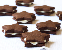 White chocolate star cookies