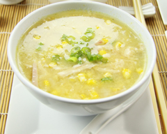 Chinese chicken and sweet corn soup