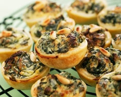 Spinach and Pine Nut Mini Quiches