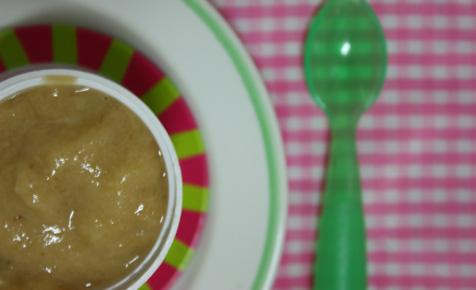 Pear, peach and banana puree