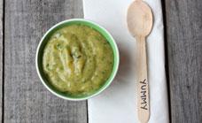 Zucchini, potato and spinach mash