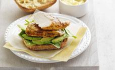 Lemon herb chicken burger