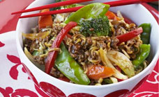 Mince chow mein