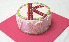 Letter K birthday cake