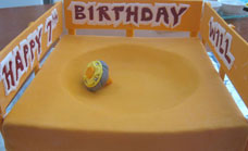 Beyblade birthday cake