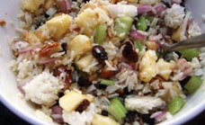Sweet rice salad