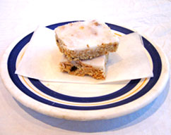 Lemon-iced weetbix slice