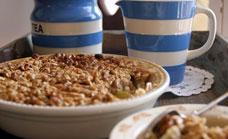 Baked Cinnamon And Apple Porridge