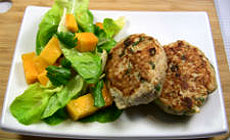 Chicken Rissoles with Sweet Chilli Mango Salad