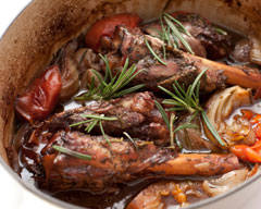 Slow cooker lamb shanks with tomatoes