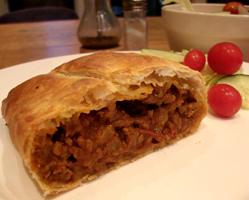 Spicy mince pasties