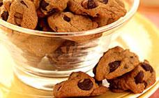 Mini choc chip biscuits