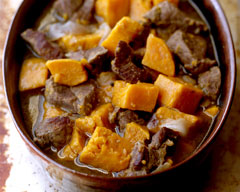 Lamb and sweet potato slow cooker casserole