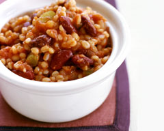 Slow cooker kidney beans and barley