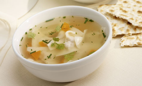 Chicken dumpling soup