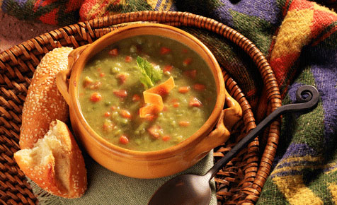 Green pea and ham soup recipe