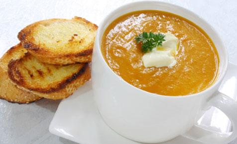 Red lentil and pumpkin soup