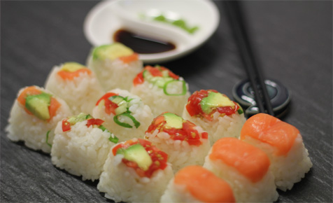 Ice-cube sushi