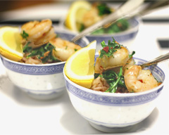 Prawn and lemon risotto