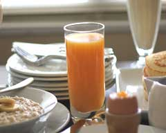 Zingy breakfast juice