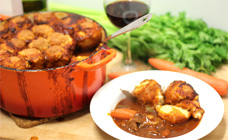 Beef casserole with parmesan dumplings