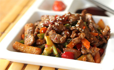 Chilli garlic beef stir fry