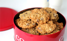 Choc-chip oatmeal cookies