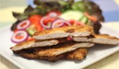Healthy chicken schnitzel