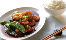 Prawns With Snow Peas
