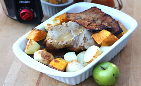 Slow cooker pork with apples