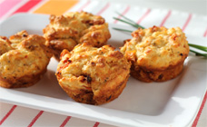 Sundried tomato and feta muffins