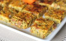 Zucchini and chorizo slice