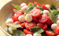Baby Caprese salad