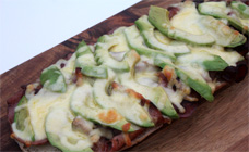 Bacon, cheese and avocado melts