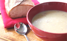 Bacon, potato and cheese soup