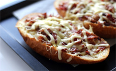Cheaty cheese and bacon rolls