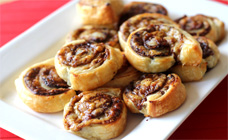 Cheese and vegemite pinwheels