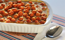 Chicken casserole with pom poms
