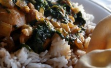 Chicken, tomato and spinach curry