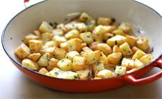 Crispy pan-fried potatoes