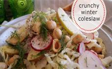 Crunchy winter coleslaw