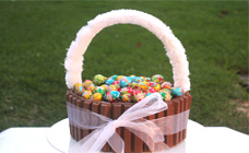 Easter basket chocolate cake