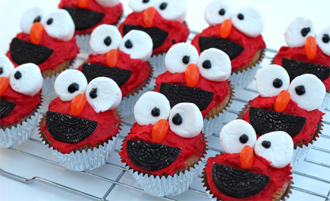 elmo cupcake recipe