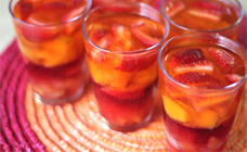 Fruit and jelly cups