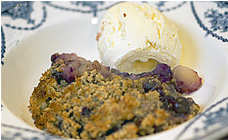 Gluten-free apple and blueberry crumble