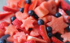 Hearts and stars fruit salad
