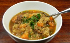 Heart Beef and quinoa stew