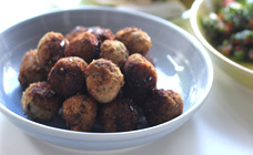 Lamb and chickpea balls