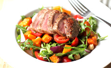 Lamb, pumpkin and chickpea salad