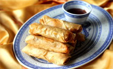 Pork and prawn spring rolls